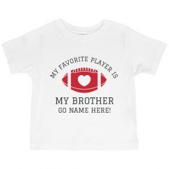 Personalized Toddler Football Sister