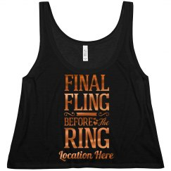 Cute Metallic Final Fling Design