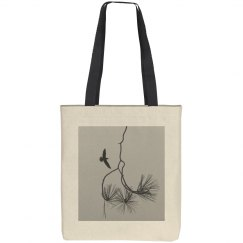 Branches and bird (tote bag)