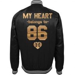 Trendy Baseball Girlfriend Heart
