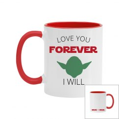 Love You Forever Alien Mug