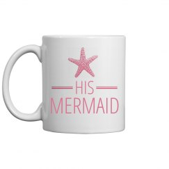 His Mermaid Honeymoon Beach Mug