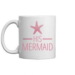 His Mermaid Honeymoon Beach Mug
