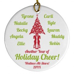 Commemorative Custom Cheer Squad Members Gift