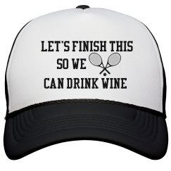 lets finish this so we can drink wine