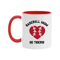 Custom Baseball Mom Mug
