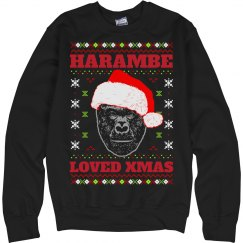 Ugly Sweater Harambe Loved Xmas
