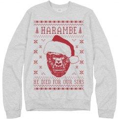Harambe Ugly Christmas Sweater
