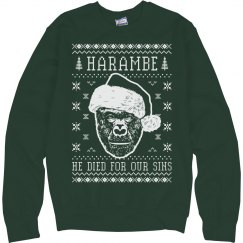 Christmas Harambe Ugly Sweater