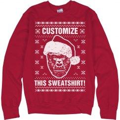 Custom Harambe Ugly Christmas