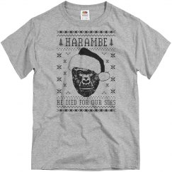 Harambe Ugly Sweater Design