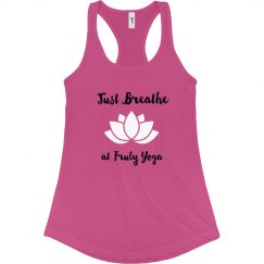 Just Breathe at Truly Yoga Tank (Raspberry)