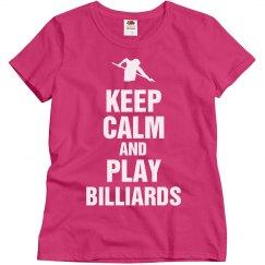 Keep calm play Billiards