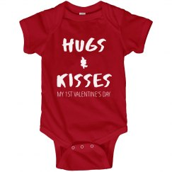 Hugs And Kisses 1st Valentine's Day