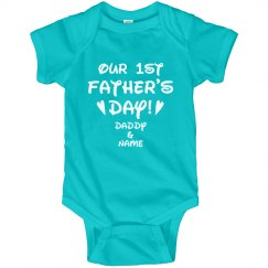 Our 1st Father's Day Custom Baby