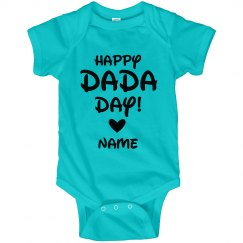 Customizable Happy DaDa Day Baby