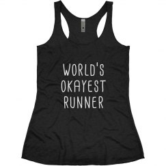 World's Okayest Runner Racerback