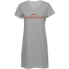 Copperstate Misses Relaxed Fit V-Neck Coverup Dress