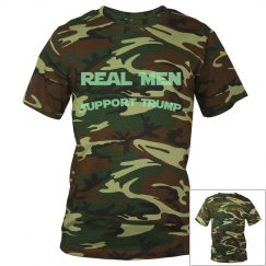 Real Men Support Trump Camouflage T-Shirt