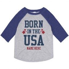 Custom Born in the USA Raglan