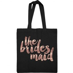 Rose Gold Brides Maid Metallic Bag