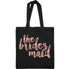 Rose Gold Brides Maid Metallic Bag