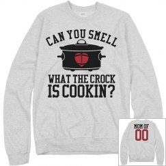 Football Mom Crockpot Tailgate Fleece Sweatshirt