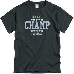 Fantasy Football Champ With Stars T-Shirt