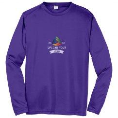 Upload Your Logo Custom Long Sleeve Performance Tee