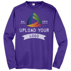 Upload Your Logo Custom Long Sleeve Performance Tee