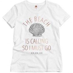 Spring Break Metallic Trendy Beach Shirt