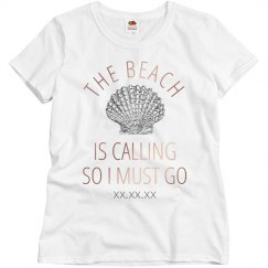 Spring Break Metallic Trendy Beach Shirt