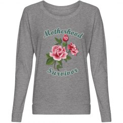 Motherhood Survivor Long Sleeve Tee