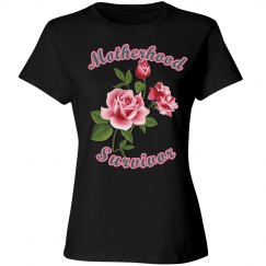 Motherhood Survivor Black Tee