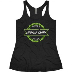 Ladies tank, green logo