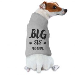 Family Dog Big Sis Raglan Announcement