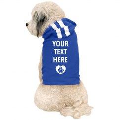 Custom Text Dog Paw With Heart