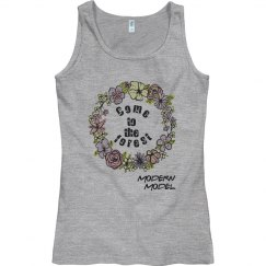 Modern Model Electric Forest Tank Top