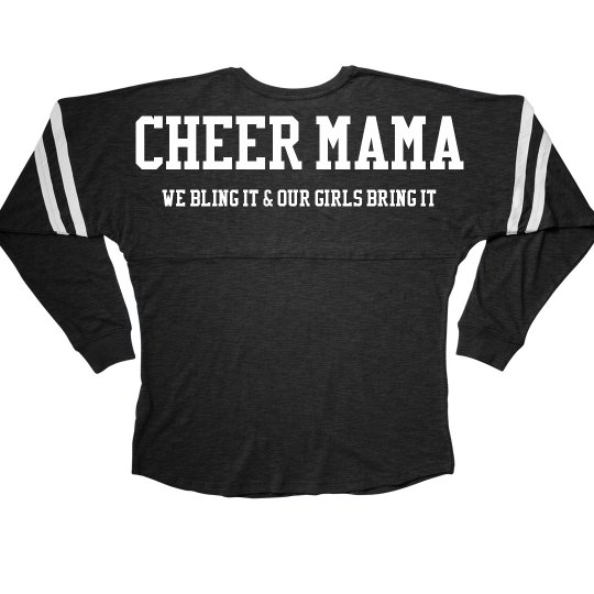 153a82830 Cheer Mom Bling it Billboard Tee Ladies Slub V-Neck Game Day Jersey