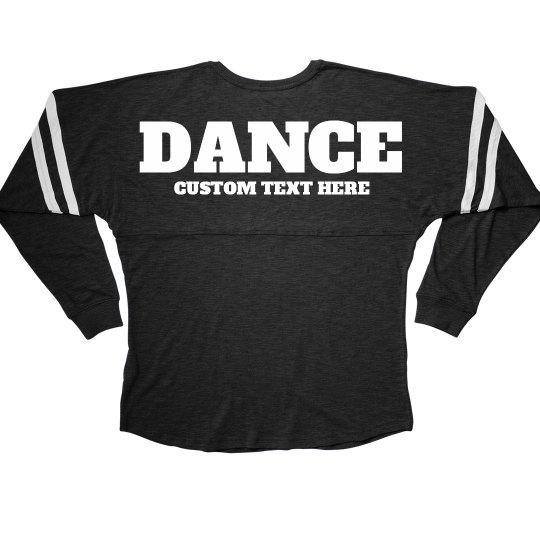 e60e673fc Custom Text Dance Billboard Tee Ladies Slub V-Neck Game Day Jersey