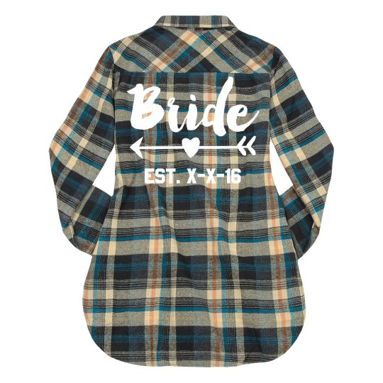 Custom Bride-To-Be Flannel