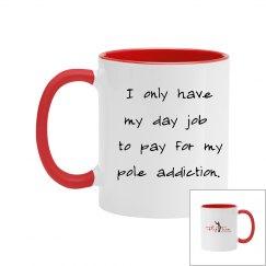 Pole Addiction Mug - red