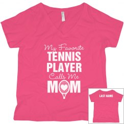 Tennis Mom Custom Favorite Player