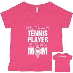 Tennis Mom Custom Favorite Player