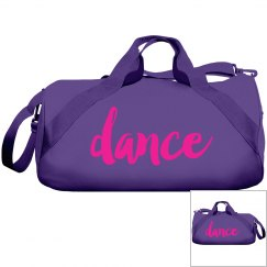 Neon Pink Dance Duffle Bag