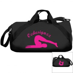 Hot Pink Black Yoga Duffle Bag