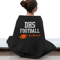 Orange Football Blanket