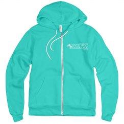 Unisex Fleece Full Zip Midweight Hoodie TEAL
