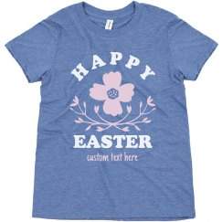 Happy Easter Floral Youth Tee