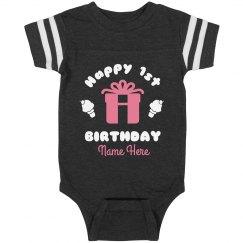 Happy 1st Birthday Custom Name